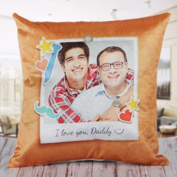 Personalised Photo Cushion for Father