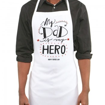 My Dad Hero Printed Apron