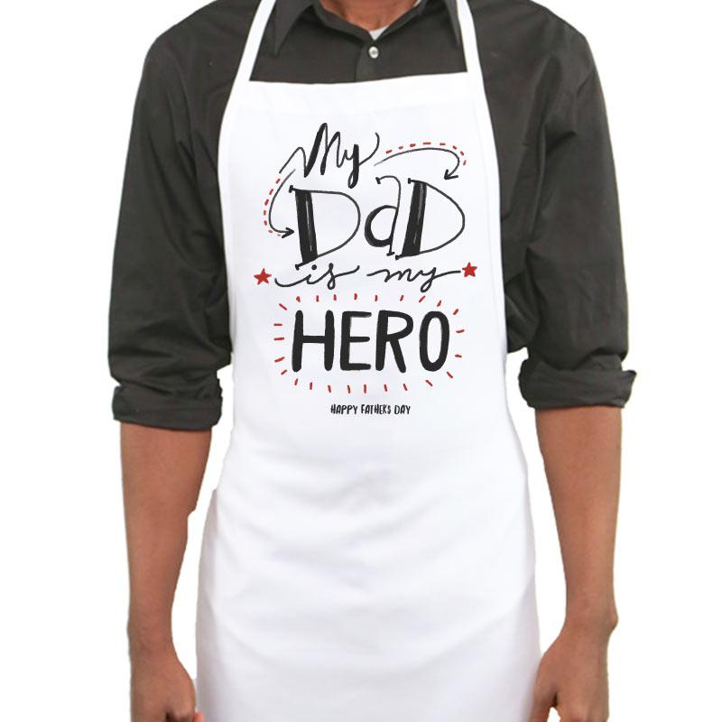 My Dad My Hero Apron