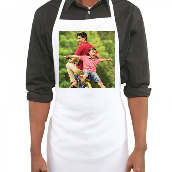 Personalised Photo Printed Apron for Father