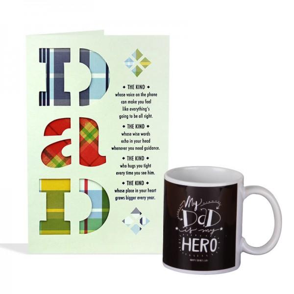 Greeting Card and Printed Coffee Mug for Dad