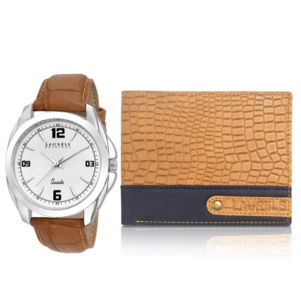 Men Combo Pack of Watch and Wallet