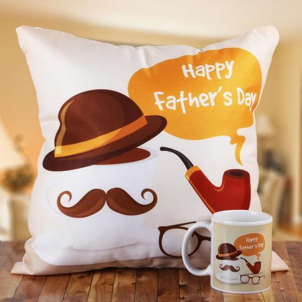 Happy Fathers Day Mug and Cushion