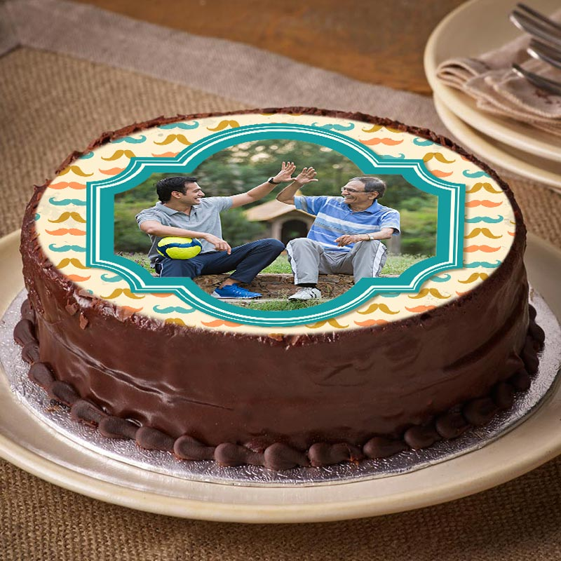 Fathers Special Photo Cake