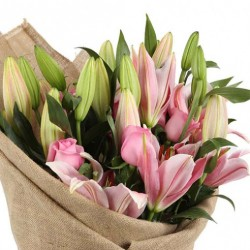 Pink Lily Posy