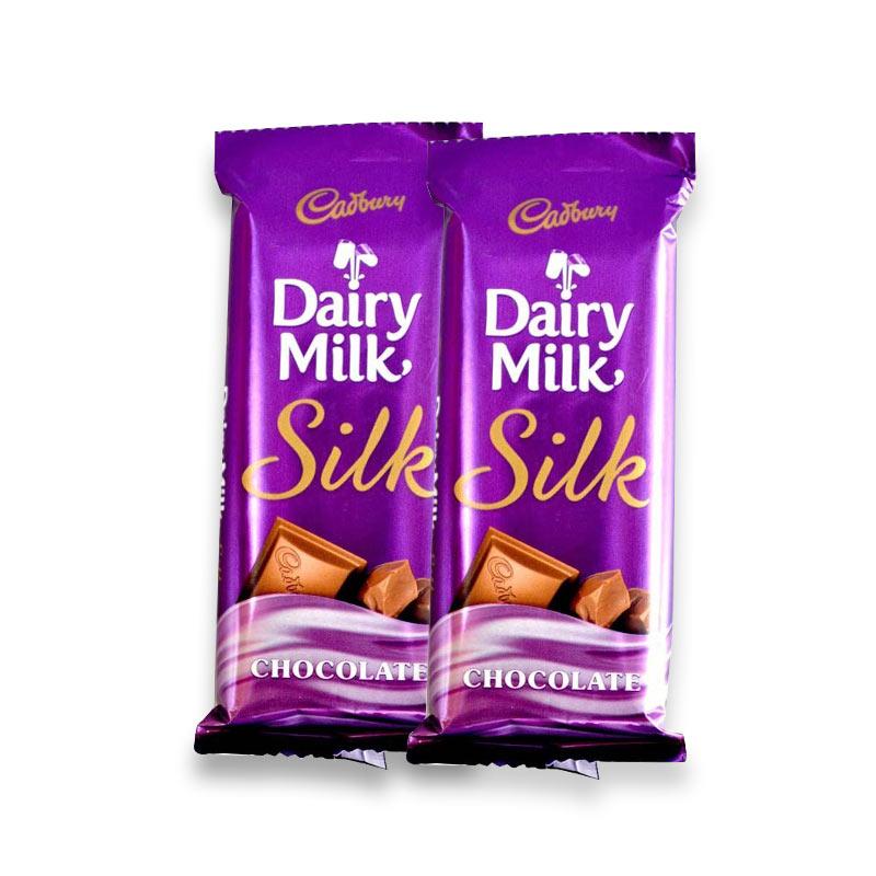 2 Cadbury Dairy Milk Silk 60gms