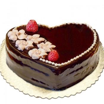 1 Kg Heart Shaped Chocolate Cake