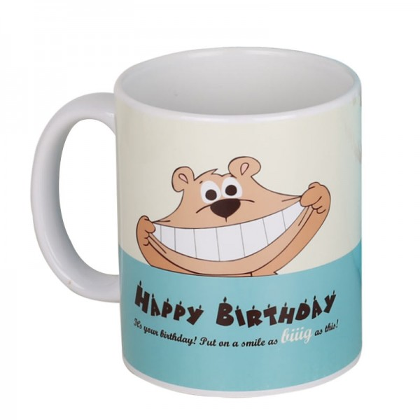 Blue Teddy Birthday Mug