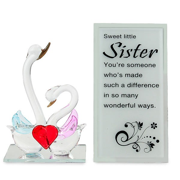 Adorable Sister Glass Quotation