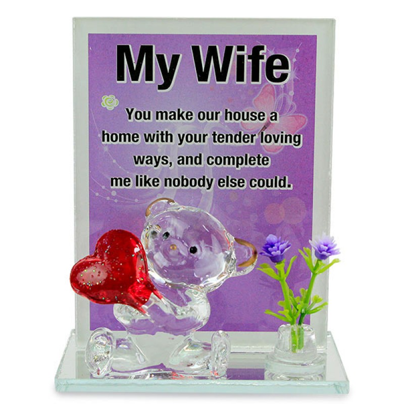 Lovable Wife Glass Quotation