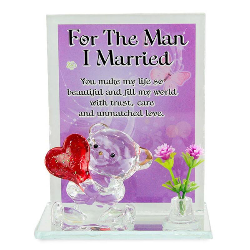 Wonderful Husband Glass Quotation