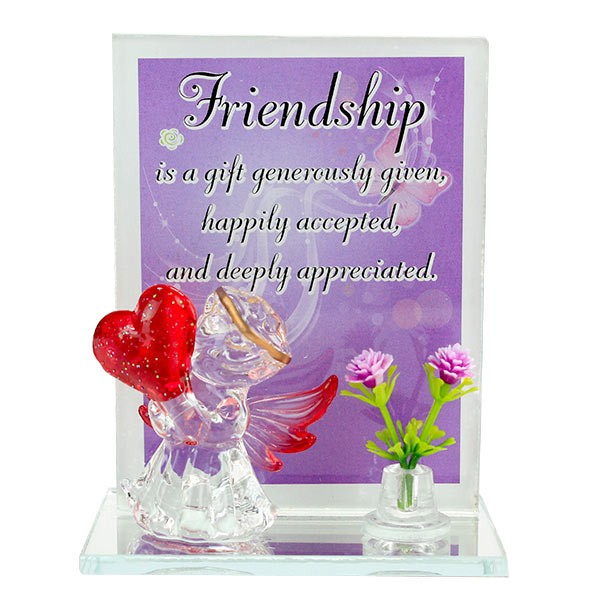 Appreciable Friend Glass Quotation