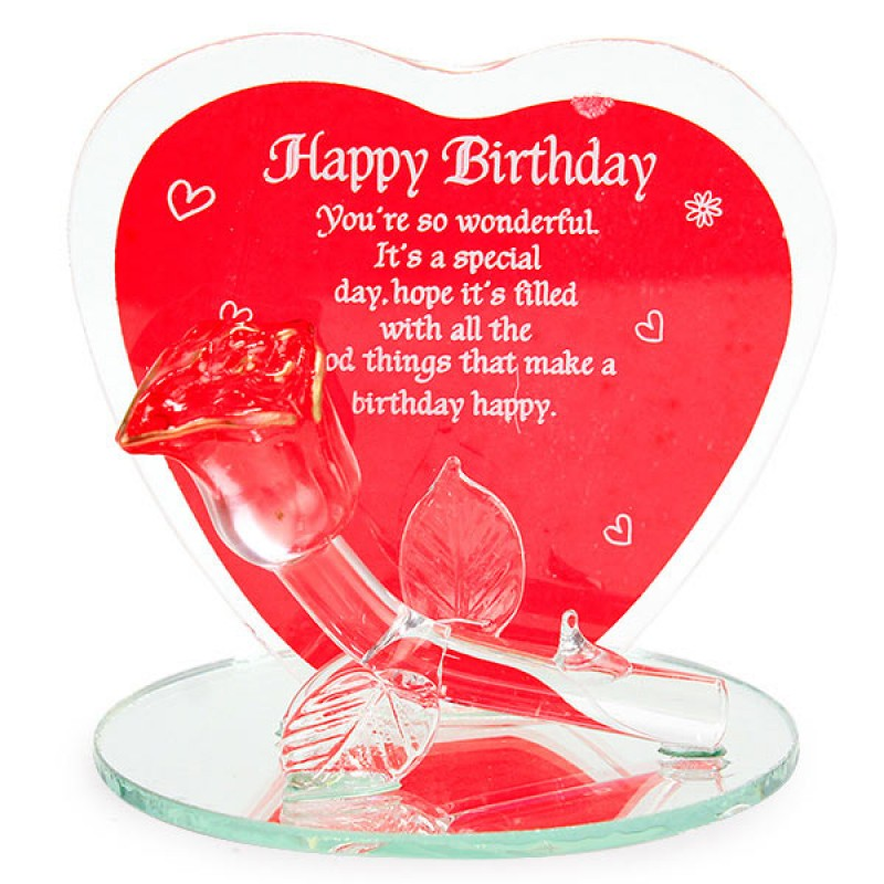 Amiable Happy Birthday Glass Quotation