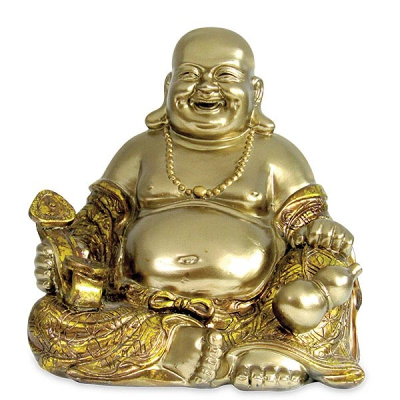 Exquisite Sitting Laughing Buddha Idol