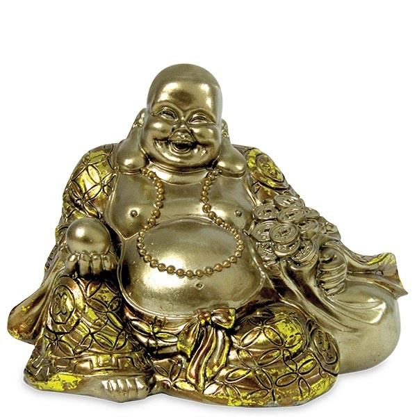 Polyresin Sitting Laughing Buddha Idol