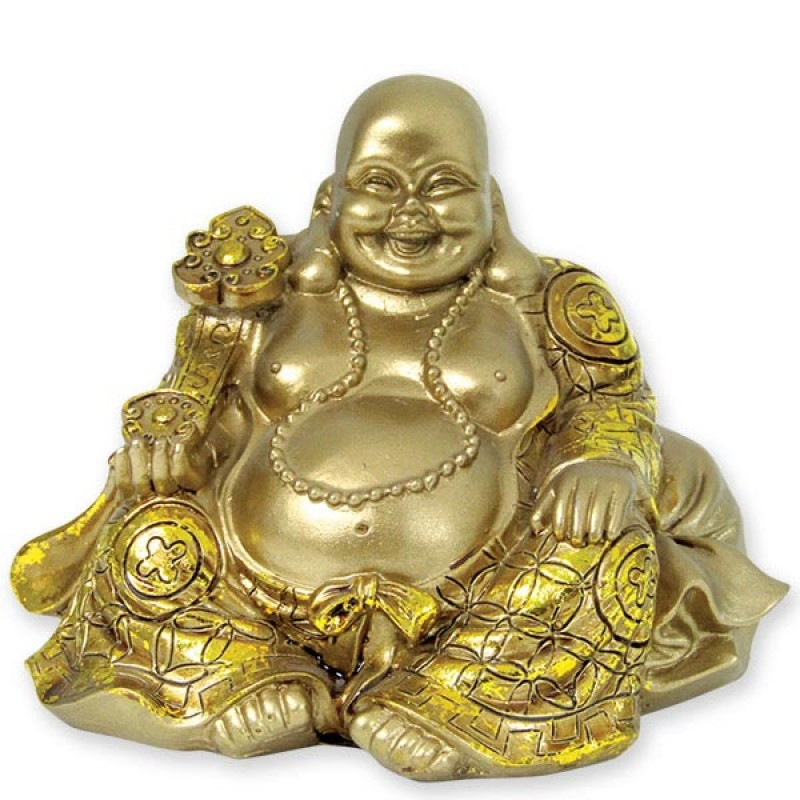 Elegant Sitting Laughing Buddha Idol