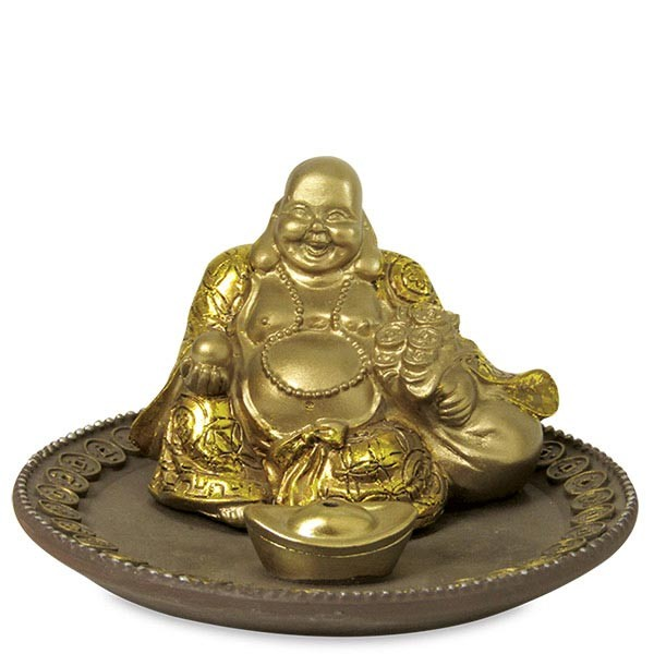 Laughing Buddha Incense Holder