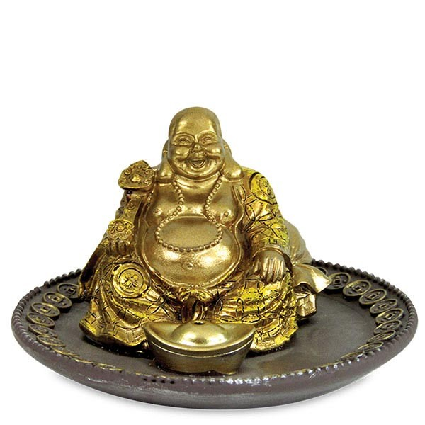 Sitting Laughing Buddha Decorative with Ingot