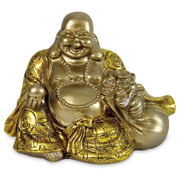 Polyresin Laughing Buddha with Money