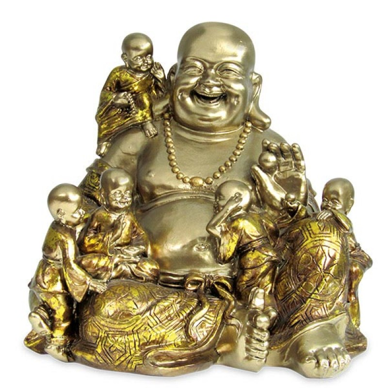 Laughing Buddha With Kids Decorative