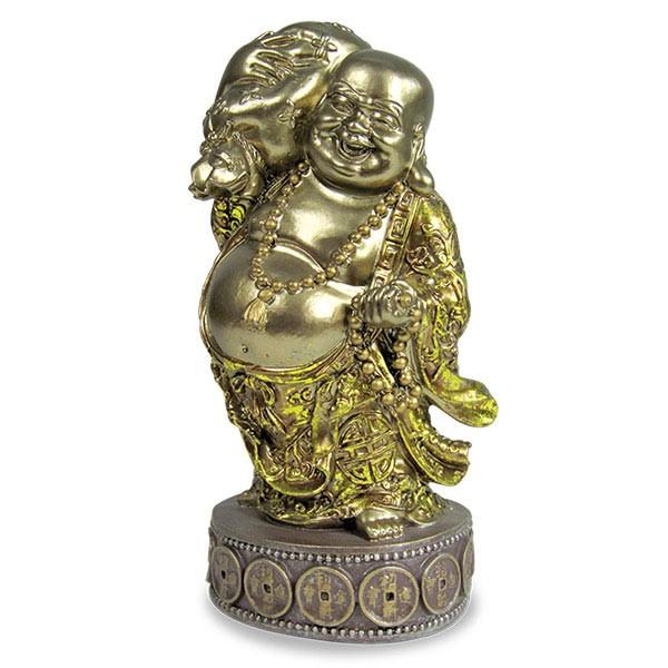 Laughing Buddha with Ingot Decorative