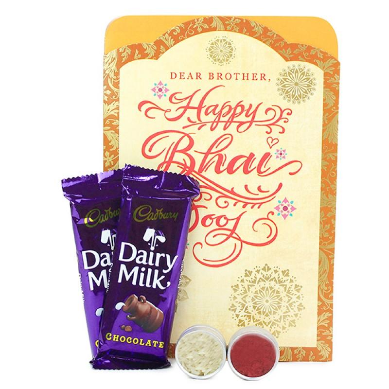 Bhai Dooj Wishes With Dairy Milk