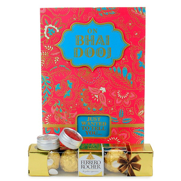 Ferrero Rocher n Bhai Dooj Card Hamper