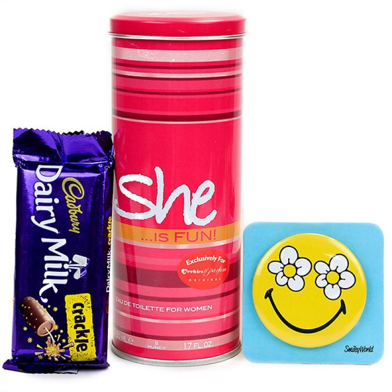 She is Fun Perfume and Chocolate Hamper