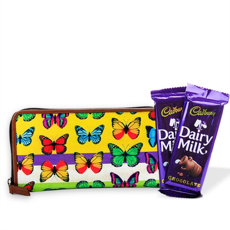 Butterfly Wallet n Chocolate Hamper