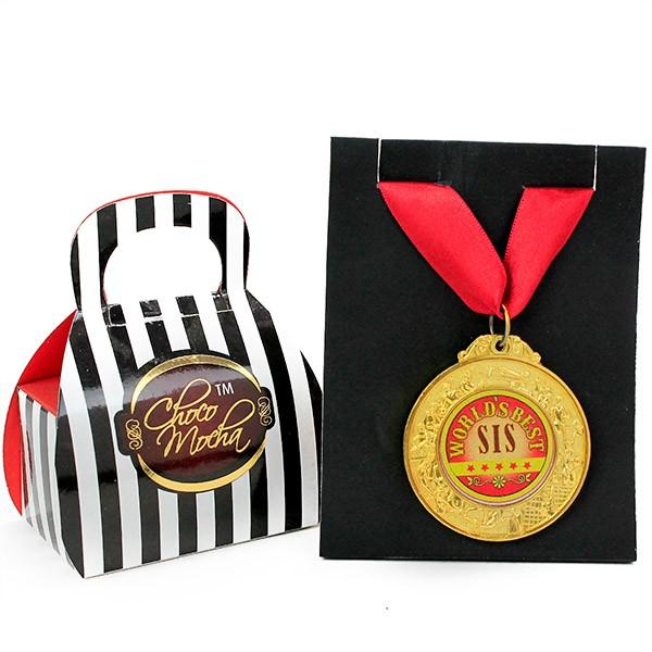 Choco Mocha n Best Sister Medal Hamper