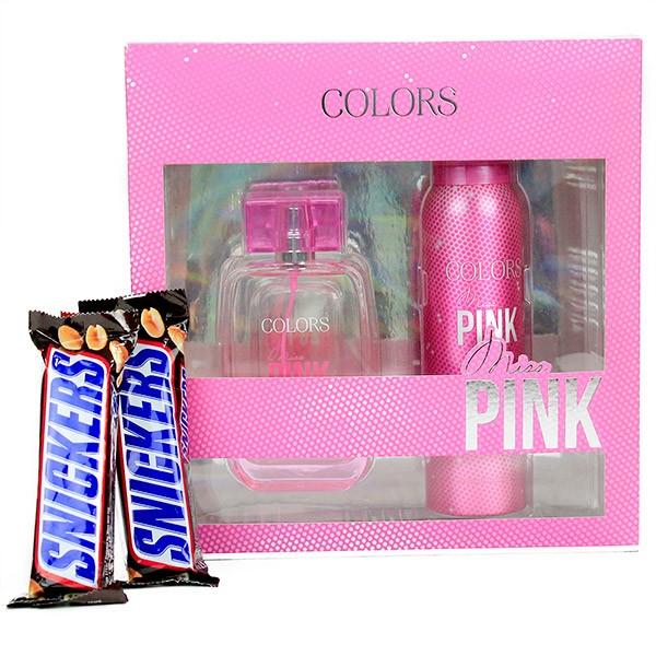 Fragrance Set n Snickers Hamper