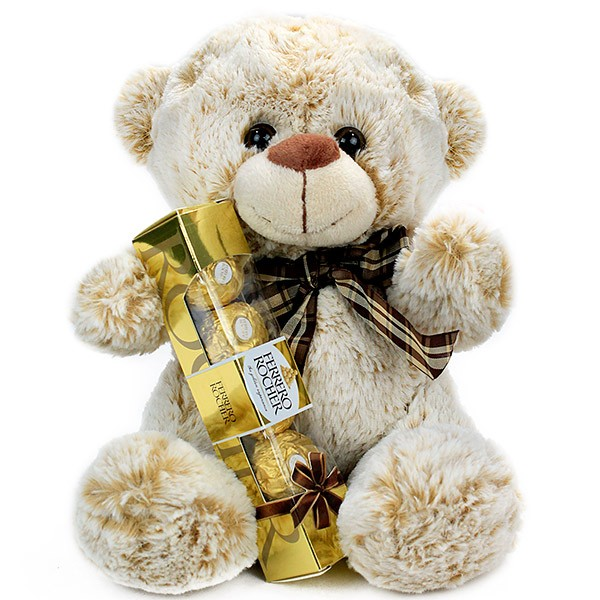 Cuddable Teddy n Chocolate Hamper