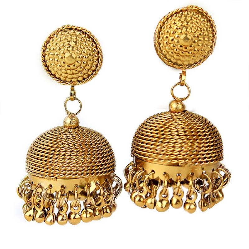 Elegant Golden Jhumkas