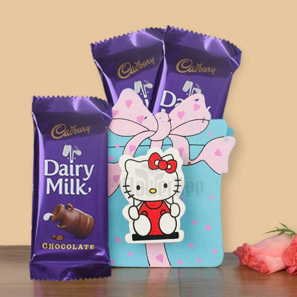 Kitty Pen Holder with Dairy Milk Chocolates