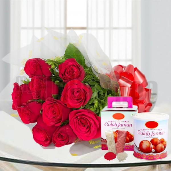 Roses and Gulab Jamun
