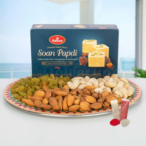 Sweet and Nutty Thali