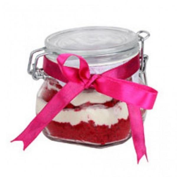 Red Velvet Cake in a Jar