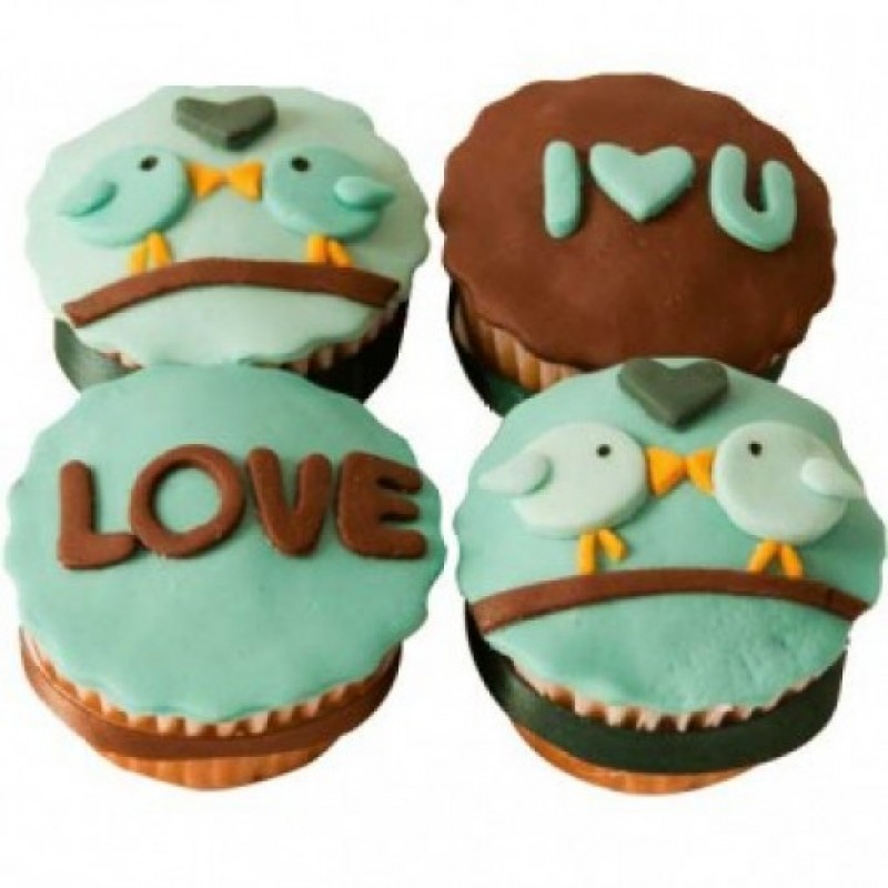 I Love You Cup Cakes