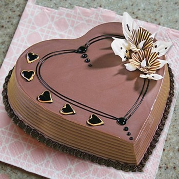 Half Kg Heart Shaped Coffee Cake