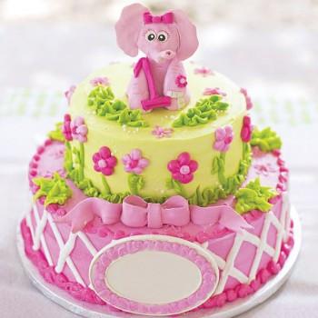 3 Kg (2 tier) Fondant Vanilla Designer Cream Cake