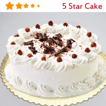 Half Kg 5 Star White Chocolate Round Cream Cake