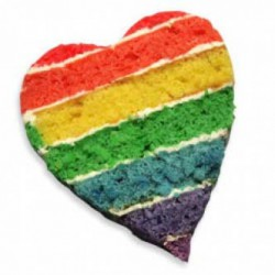 Heart Shape Rainbow Cake
