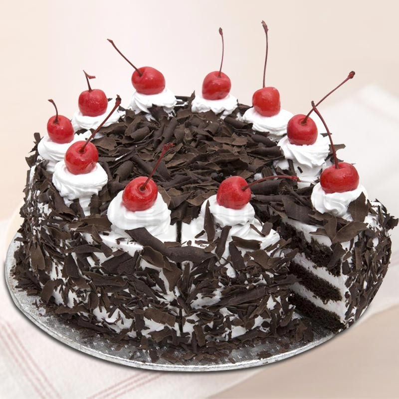 Moms Black Forest Eggless Cake