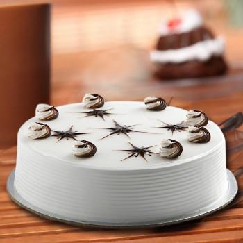 Half Kg Vanilla Cream Cake