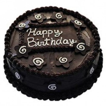 Half Eggless Dark Chocolate Cake for Birthday