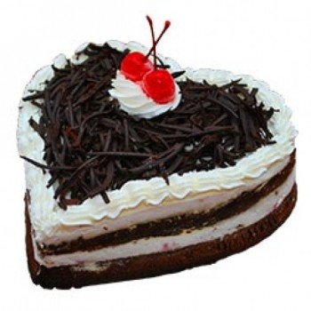 One Kg Heart Shape Eggless Black Forest Cake