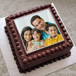 Photo Square Chocolate Cake