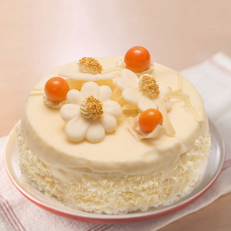 Sugarfree White Forest Cake Half Kg