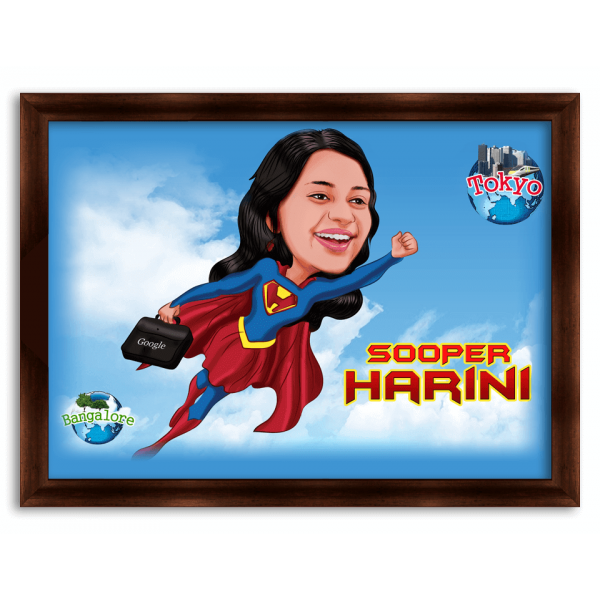 Superwoman Caricature