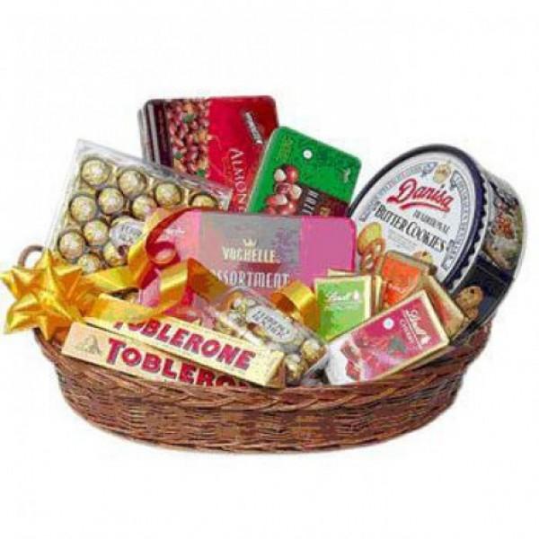 Basket of Imported Chocolates